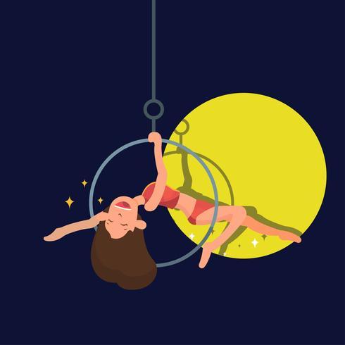 Trapeze Artist Vector