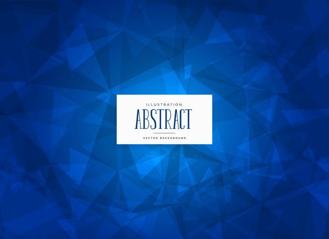 fundo de forma abstrata azul triângulos