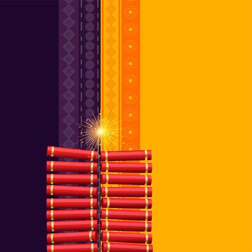 hindu diwali festival cracker background
