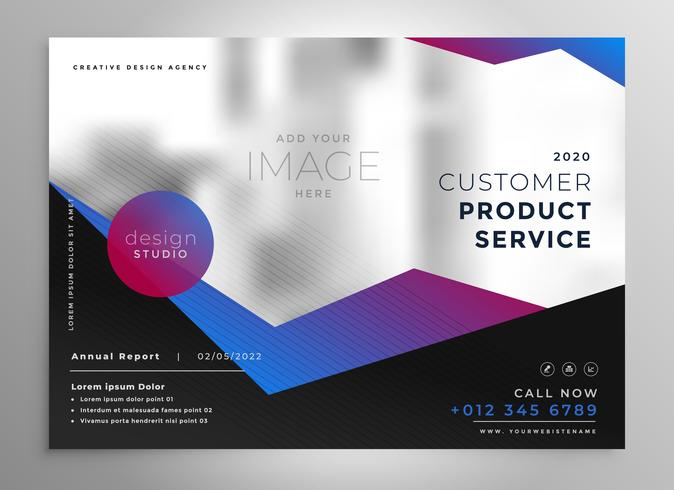 elegant professional geometric brochure presentation template