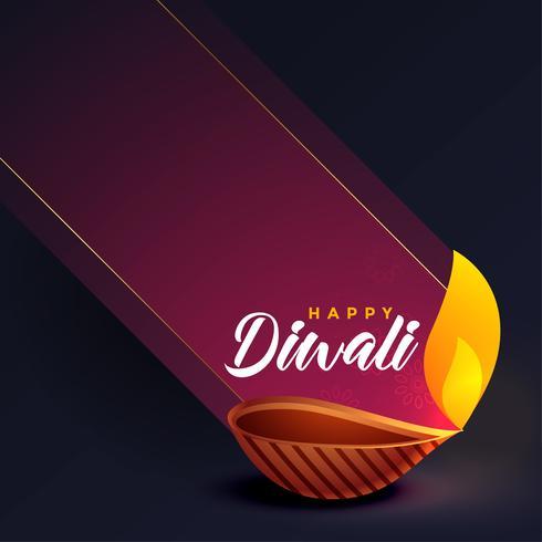 design de cartão criativo elegante festival de diwali