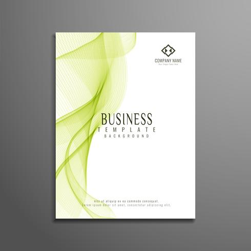 Abstract business flyer stylish wavy template design vector