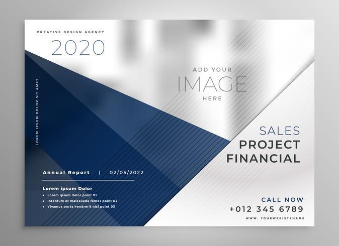 diseño de folleto de negocios geométrica abstracta