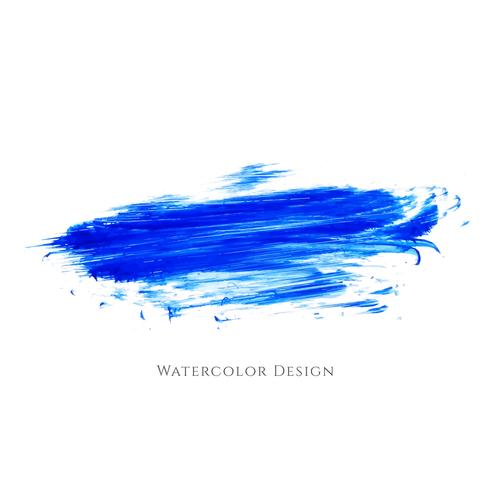 Abstract blue watercolor strokes design