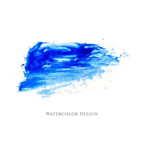 Abstract blue watercolor strokes design vector
