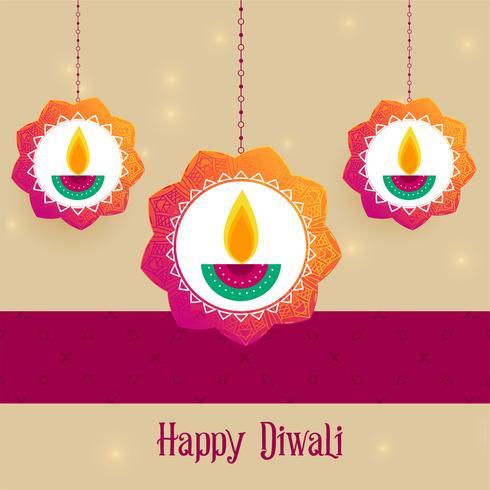 fundo de saudação de festival criativo diwali