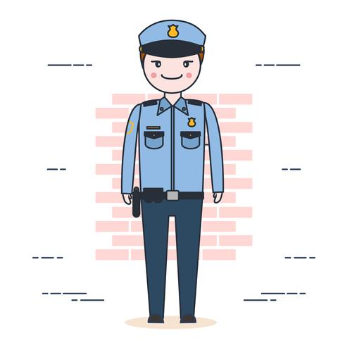 Vector de oficial de policia