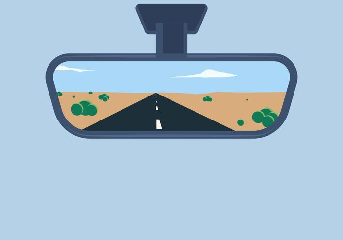 Bakifrån spegel vektor illustration