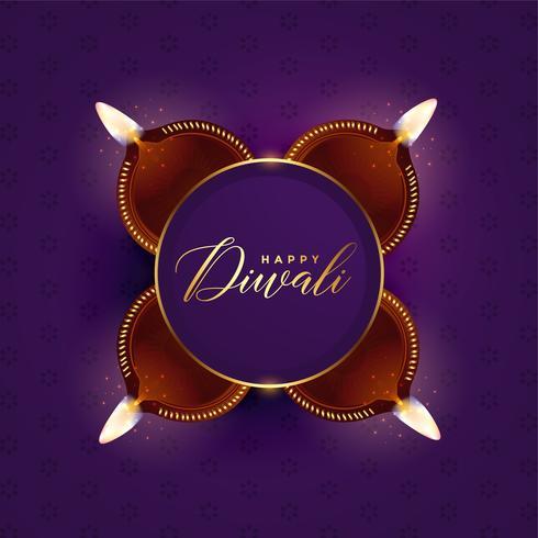 diseño de tarjeta de celebración festival diwali encantadora