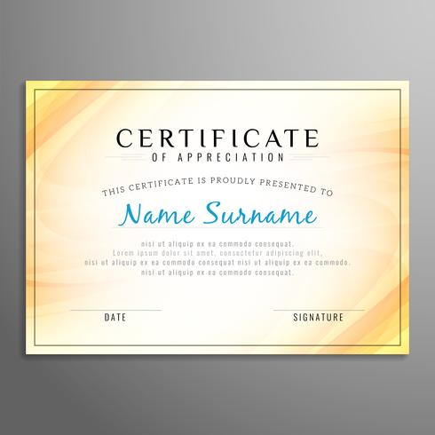 Abstract modern certificate design template
