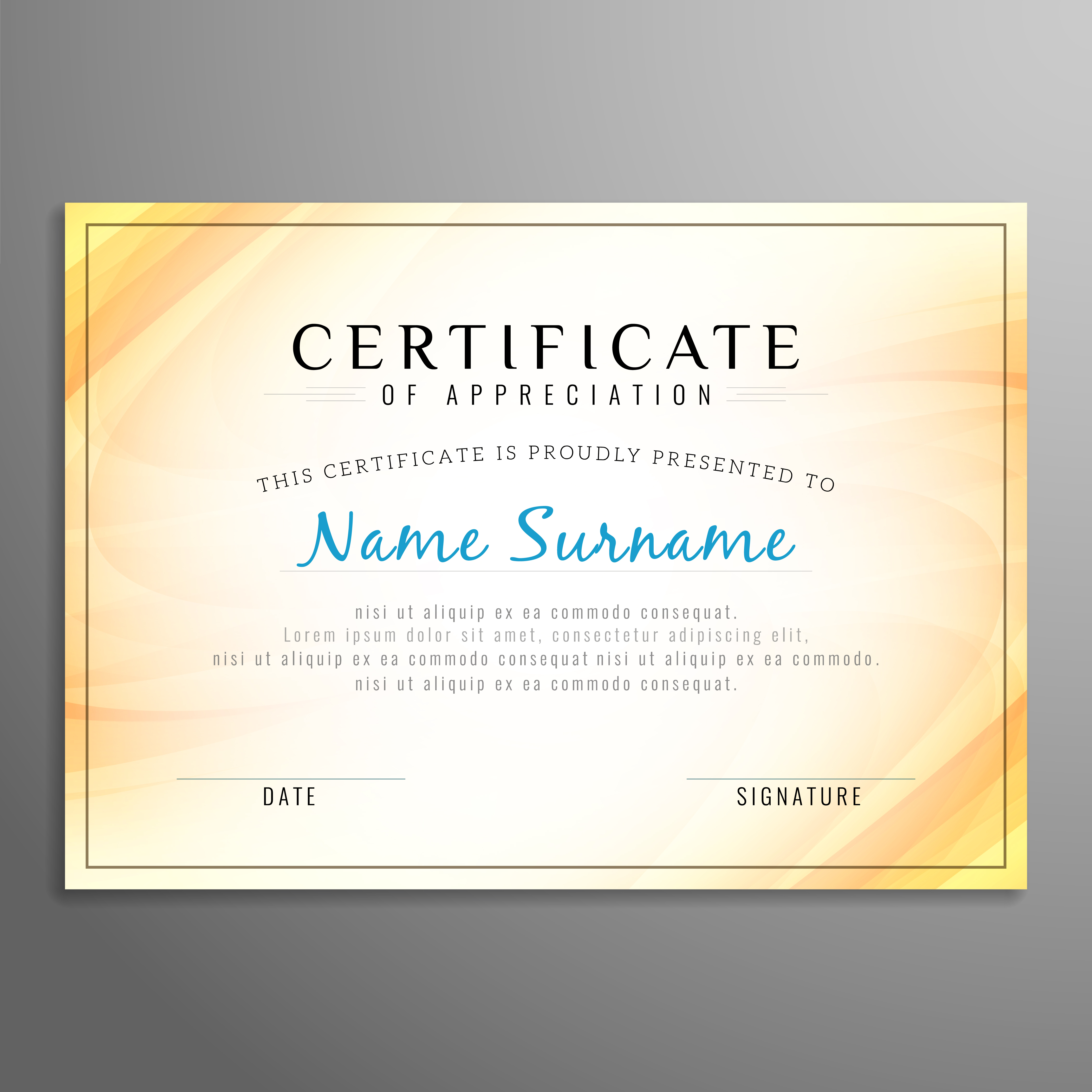 Abstract Modern Certificate Design Template Download Free Vector