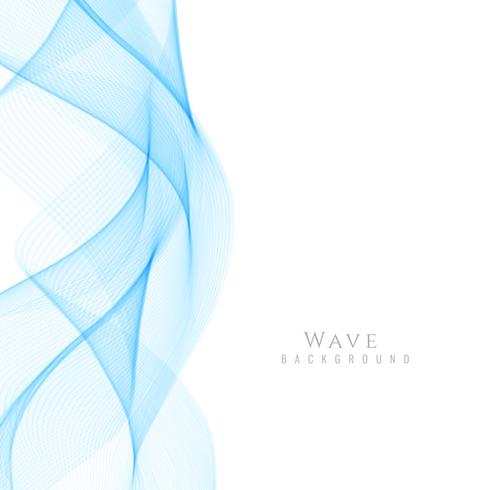 Abstract stylish wave background vector