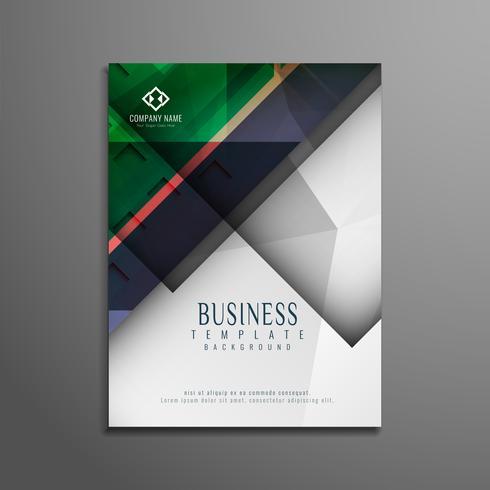 Abstraktes buntes geometrisches Geschäftsbroschürendesign