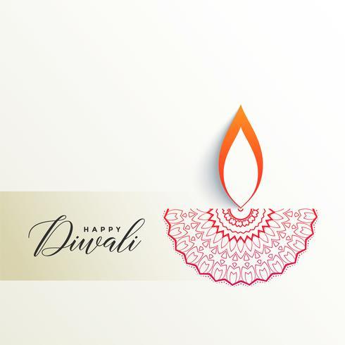 diya diwali criativo design em fundo branco