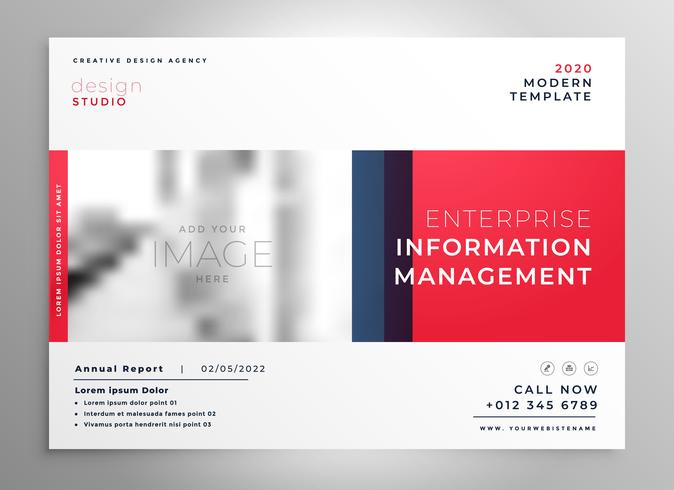 brochure presentation design template in red color download free