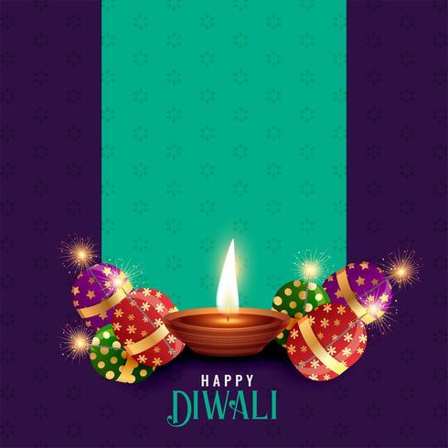 diwali festival stagione sfondo con lo spazio del testo