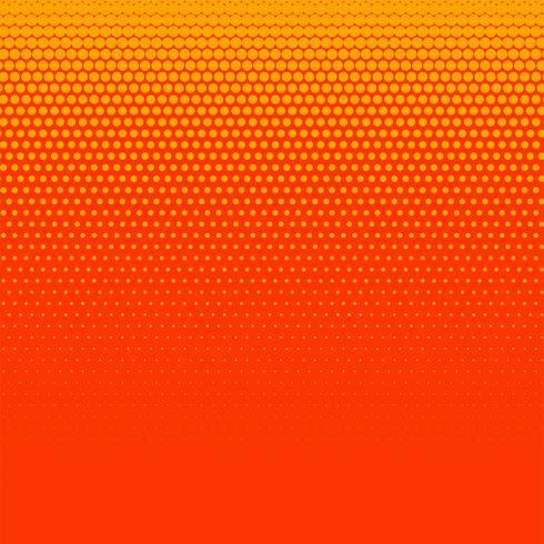 bright orange halftone background design