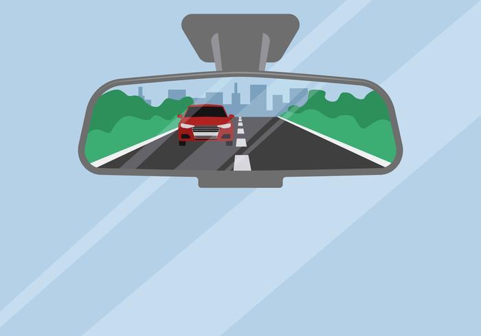 Ilustração em vetor espelho retrovisor