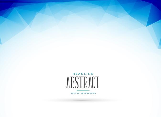 Fondo geométrico abstracto azul limpio baja poli