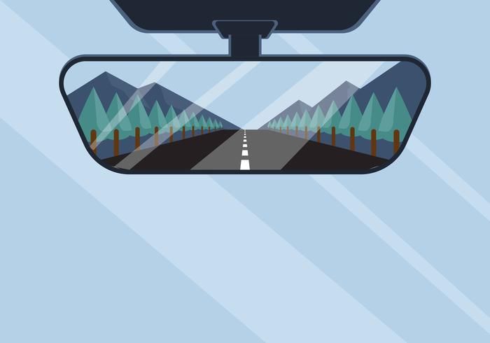 Rear View Mirror Vector Illustration