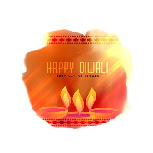 fond de diya de festival créatif élégant diwali