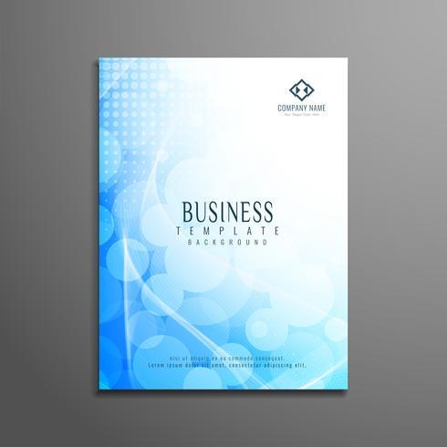 Progettazione del modello astratto dell'aletta di filatoio ondulata blu di affari