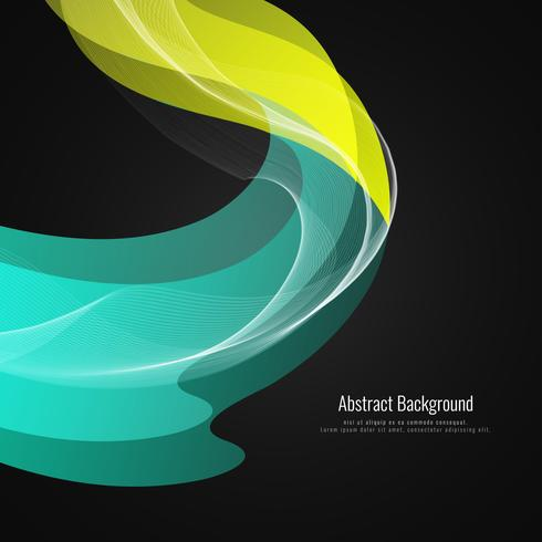 Stilvoller Hintergrund der abstrakten eleganten Welle vektor
