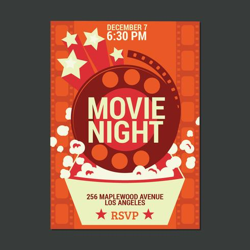 Night Movie Party Poster vector