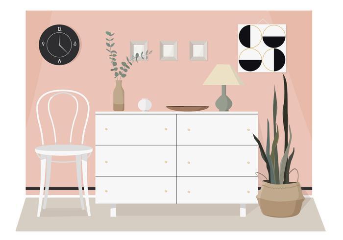 Vector ilustración interior moderna