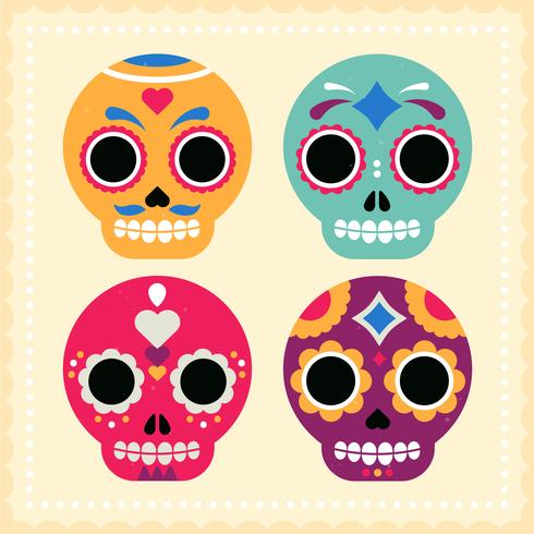 Vector Mexican Skull Mask Ilustração