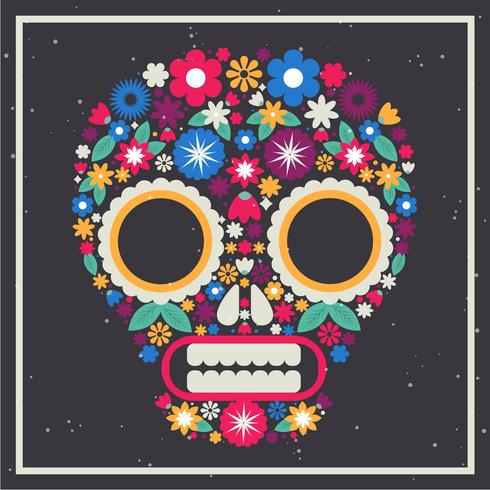 Illustrazione di maschera messicana cranio vettoriale