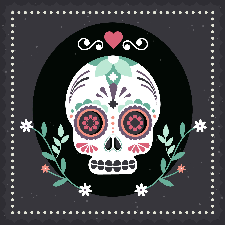 Vector Illustration Web Designs: Vector Mexican Skull Mask Illustration