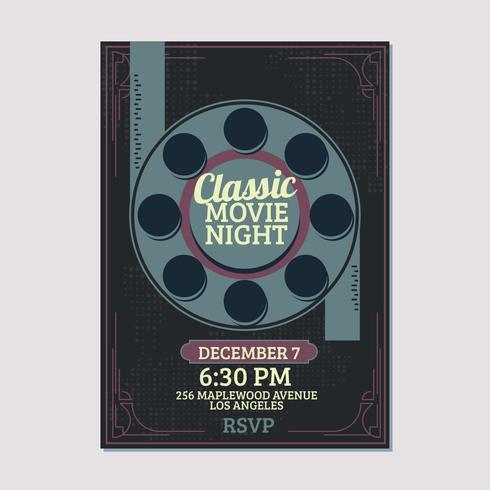 Modelo de noite de filme clássico