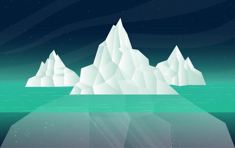 Vektor-Eisberg-Illustration