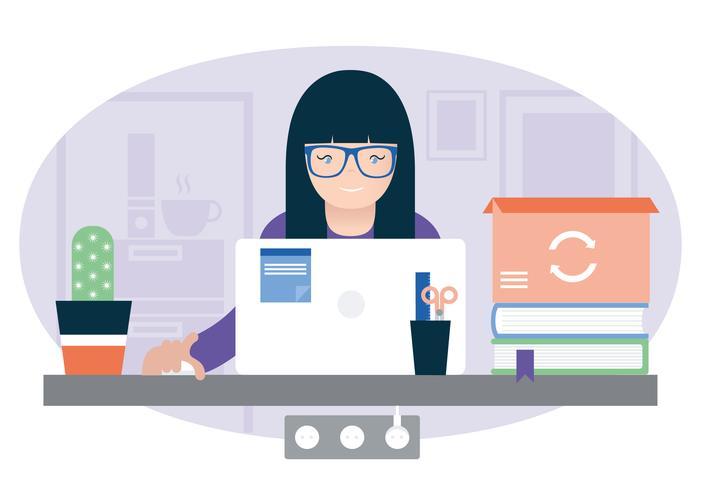 Vector Office Room Illustration