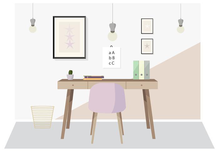 Ilustración de escritorio de Vector Designer