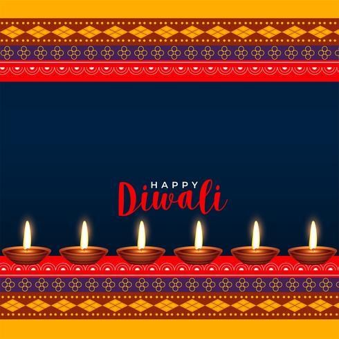 design de saudação de estilo hindu diwali festival ethinc