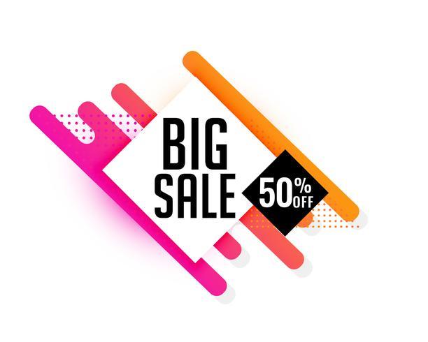 grande vendita banner design di sconto