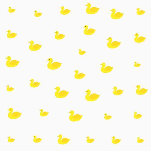 bright yellow duck pattern design