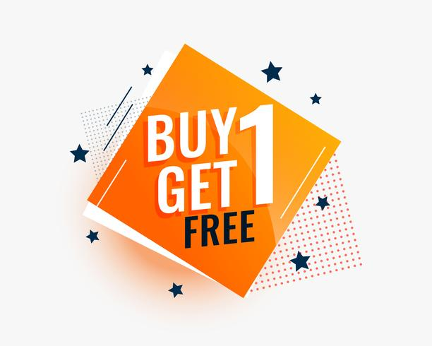 modern buy one get one sale banner in creative style