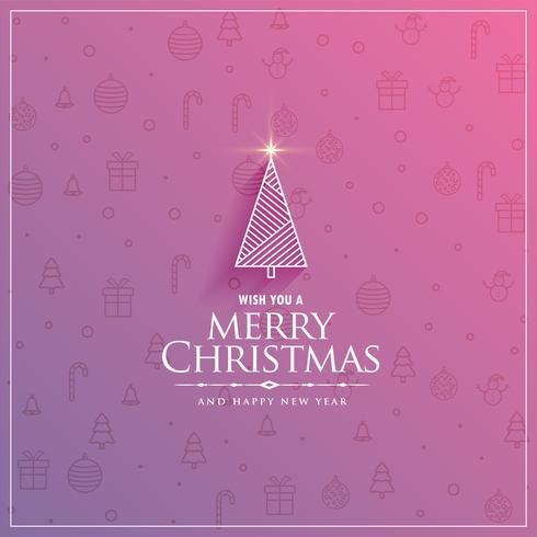 design criativo de árvore de Natal em elementos sutis festival patte