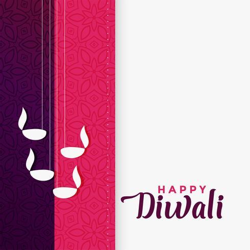 Glad diwali hälsning i platt färgdesign