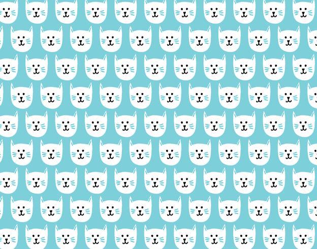 padrão sem emenda de gatinho feliz