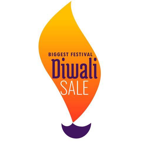 banner de venda criativo diwali feito de design diya