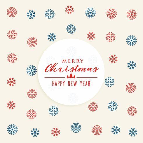flocos de neve padrão de design de fundo para o Natal e ano novo