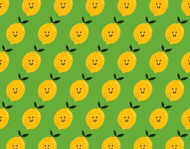 glückliches Zitronenmuster