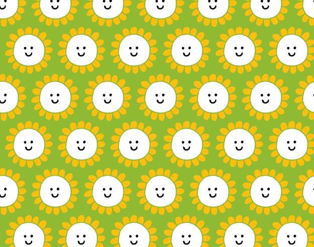 smiley happy flower pattern