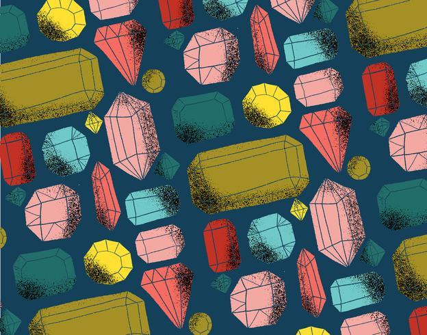 grungy gemstone pattern vector
