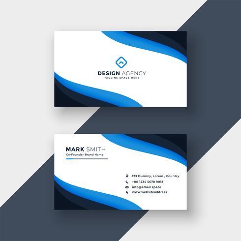 elegant blått modernt visitkortdesign