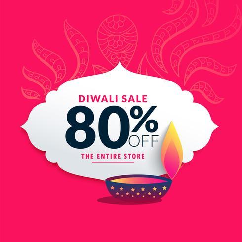 Diwali Försäljningsetikett och Pris Discout Banner Design